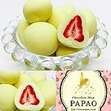 PAPAO(パパオ) ホワイト苺チョコ ショコラドフレーズ 100g メッセージカード付き