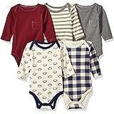 Hudson Baby Long Sleeve Bodysuit 5 Pack