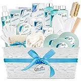 Ocean Bliss Extra Large Spa Bath Gift Basket, Best, Includes 3 Bath Bombs, Shower Gel, Bubble Bath, Lotion, Scrub, Pumice Bru