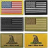 WZT Bundle 6 Pieces American Flag Tactical Military Morale Patch Set