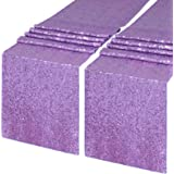 QueenDream 2 Pieces 12 x 108 inch Lavender Sequin Table Runners for Wedding Bridal Shower Bachelorette Graduation Party Table