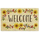 DII CAMZ11125 Indoor/Outdoor Natural Coir Easy Clean, Sunflowers, 18X30