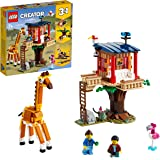 LEGO 31116 Creator 3 in 1 Safari Wildlife Tree House, Catamaran, Biplane Toy, Building Set with Boat, Plane and Toy Lion