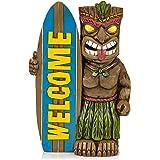 VP Home Tiki Welcome Surfboard Solar Powered LED Outdoor Decor Garden Light