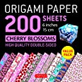 Origami Paper 200 sheets Cherry Blossoms 6 inch (15 cm): High-Quality Origami Sheets Printed with 12 Different Colors (Instru