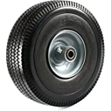 """NK Troy Safety WFF10 Heavy Duty Solid Rubber Flat Free Tubeless Hand Truck/Utility Tire Wheel, 4.10/3.50-4"""" Tire, 2-1/4"""" Offs"""