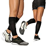 Calf Leg Compression Sleeves by Modetro Sports -Shin Splints, Circulation & Leg Cramp Compression Support Sleeves - Running,