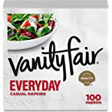 Vanity Fair Everyday Napkins, 100 Count, White Dinner Paper Napkins