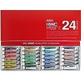 ホルベイン 透明水彩絵具 24色セット W405 5ml(2号) 003405