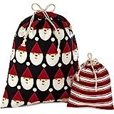"Hallmark 5XGB4902 Assorted Bundle Canvas Christmas Gift Set (2 Fabric Bags 1 Medium 10"", 1 Extra Large 20"")"