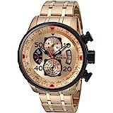 [インビクタ] 腕時計 Aviator 石英 48mm ケース ゴールド ステンレス鋼ストラップ ゴールドダイヤル 17205 メンズ 正規輸入品