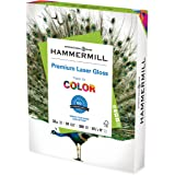 Hammermill Paper, Color Laser Gloss Poly Wrap, 32lb, 8.5 x 11, Letter, 94 Bright, 300 Sheets / 1 Pack (163110) Made in The US