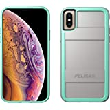 Pelican Protector iPhone Xs Case (Also fits iPhone X) - Grey/Aqua