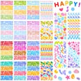 20 Sheets Colorful Number Letter Stickers Alphabet Number Star Heart Stickers Assorted Self Adhesive DIY Stickers for Arts Cr