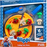"""Blippi Funny Fun Pizza, Learning Colors - 6"""" Pizza Crust, Pizza Cutter, Spatula, Pizza Plate, 9 Ingredients (Peppers, Broccol"""