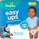 Pampers Easy Ups Training Pants Pull On Disposable Diapers for Boys Size 4 (2T-3T), 26 Count, JUMBO