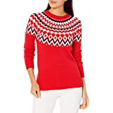 Amazon Essentials Women's Classic-Fit Soft-Touch Crewneck Fair Isle Sweater