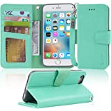 Arae Case for iPhone 6s / iPhone 6, Premium PU Leather Wallet case [Wrist Strap] Flip Folio [Kickstand Feature] with ID&Credi
