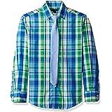 Tommy Hilfiger Big Boys' Long Sleeve Dress Shirt with Tie