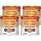 Enfamil Nutramigen Hypoallergenic Colic Baby Formula Lactose Free Milk Powder, 19.8 ounce (Pack of 4) - Omega 3 DHA, LGG Prob