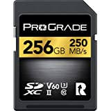 ProGrade Digital Sd Card V60 (256GB) -Up To 130MB/s Write Speed And 250MB/s Read Speed | For Professional Vloggers, Filmmaker