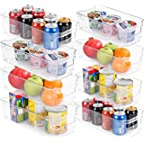 Set of 8 Refrigerator Pantry Organizers-Includes 8 Organizers (4 Large & 4 Small Drawers)-Stackable Organizers for Freezers,K