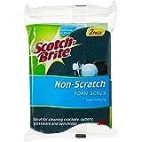 Scotch-Brite XN002034397 Non Scratch Urethane Scrub Sponge, 2pc, Blue