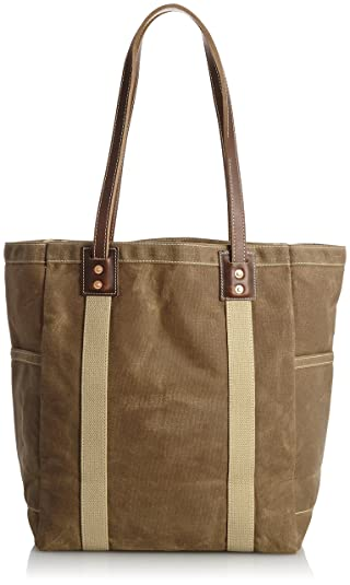 Artifact Bag Utility Tote Waxed Canvas 105: Dark Khaki / Brown