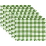 DII Woven Heavyweight Cotton Dish Cloths with Decorative Fringe, Absorbent Dishcloths for Drying and Cleaning Kitchen Dishes