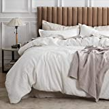 Bedsure 100% Cotton Waffle Weave Duvet Cover Set Twin Size, 2 Pieces Luxury Comforter Cover, Solid Color Soft and Breathable