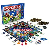 Hasbro Monopoly E8396 Gamer Sonic The Hedgehog Edition Board Game For Kids Ages 8 & Up; Sonic Video Gamer Themed Board Game