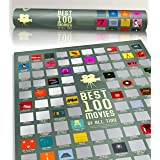 """100 Movie Scratch Off Poster Top Films of All Time Bucket List by Travel Revealer Scratch Off Movie Poster. 17""""x24"""" Minimalis"""