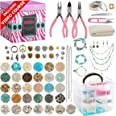 Modda Deluxe Jewelry Making Kit – Crafts for Adults, Teens, Girls, Beginners, Women – Includes Instructions, Beads, Charms, F