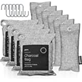 Pura Premium Activated Charcoal Bags Odor Absorber (16 Piece Set: 4x200g, 6x75g & 6 hooks) Powerful Bamboo Charcoal Air Purif