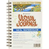 """Strathmore 400 Series Visual Watercolor Journal, 140 LB 5.5""""x8"""" Cold Press, Wire Bound, 22 Sheets"""