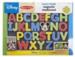 Melissa & Doug Disney Mickey Mouse Clubhouse Magnetic Chalkboard with 27 Wooden Alphabet Magnets