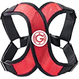 Gooby - Perfect Fit X Harness, Small Dog Choke Free Step-in Harness with Synthetic Lambskin Soft Strap, Red, Small
