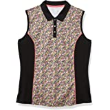 Callaway Women's Ditsy Print Sleeveless Golf Polo Shirt