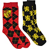 Harry Potter 2 Pack Gryffindor Ravenclaw Huffle Puff Slytherin House Mens Crew Socks