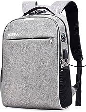 [AISFA] リュックサック 錠 USB充電ポート イヤホン穴付き