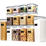 Chefstory 14 Pieces Food Storage Containers with Lids,Black