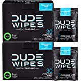 DUDE Wipes Flushable Wipes, Individually Wrapped for Travel, Unscented Wet Wipes with Vitamin-E & Aloe, Septic and Sewer Safe