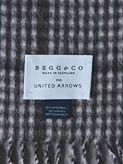 Wool Angora Scarf Gingham 1336-499-3404: Light Grey