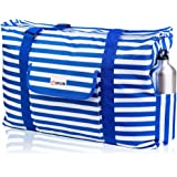 Beach and Pool Bag XL - Waterproof (IP64) - L22 xH15 xW6 - Thermo Pocket - 4 Outside Pockets - Top Zip