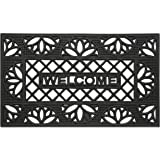 Achim Home Furnishings WRM1830TP6 Tulip Wrought Iron Rubber Door Mat, 18 by 30""
