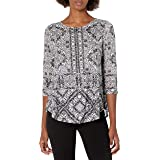 RUBY RD. Women's Geo-Print Top