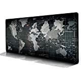 Saving Home Mouse Pad, Extended Large Size 800mmx300mm Gaming Desk Mat - Portable with Stitched Edges World Map Desk Pad with