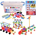 STEM Master 176 Piece STEM Learning Educational Construction Building Toy Gift Set for Boys and Girls Ages 3 4 5 6 7 8 9 10 Y