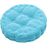 Outdoor Round Seat Cushions EPE Cotton Filled Boosted Cushion Indoor Chair Cushions for Home Office Kitchen, Polyester & Poly