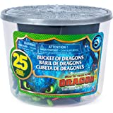 How to Train Your Dragon 3: The Hidden World Bucket of Dragons with 25 Mini Dragon and Human Figures Including Toothless, Hic